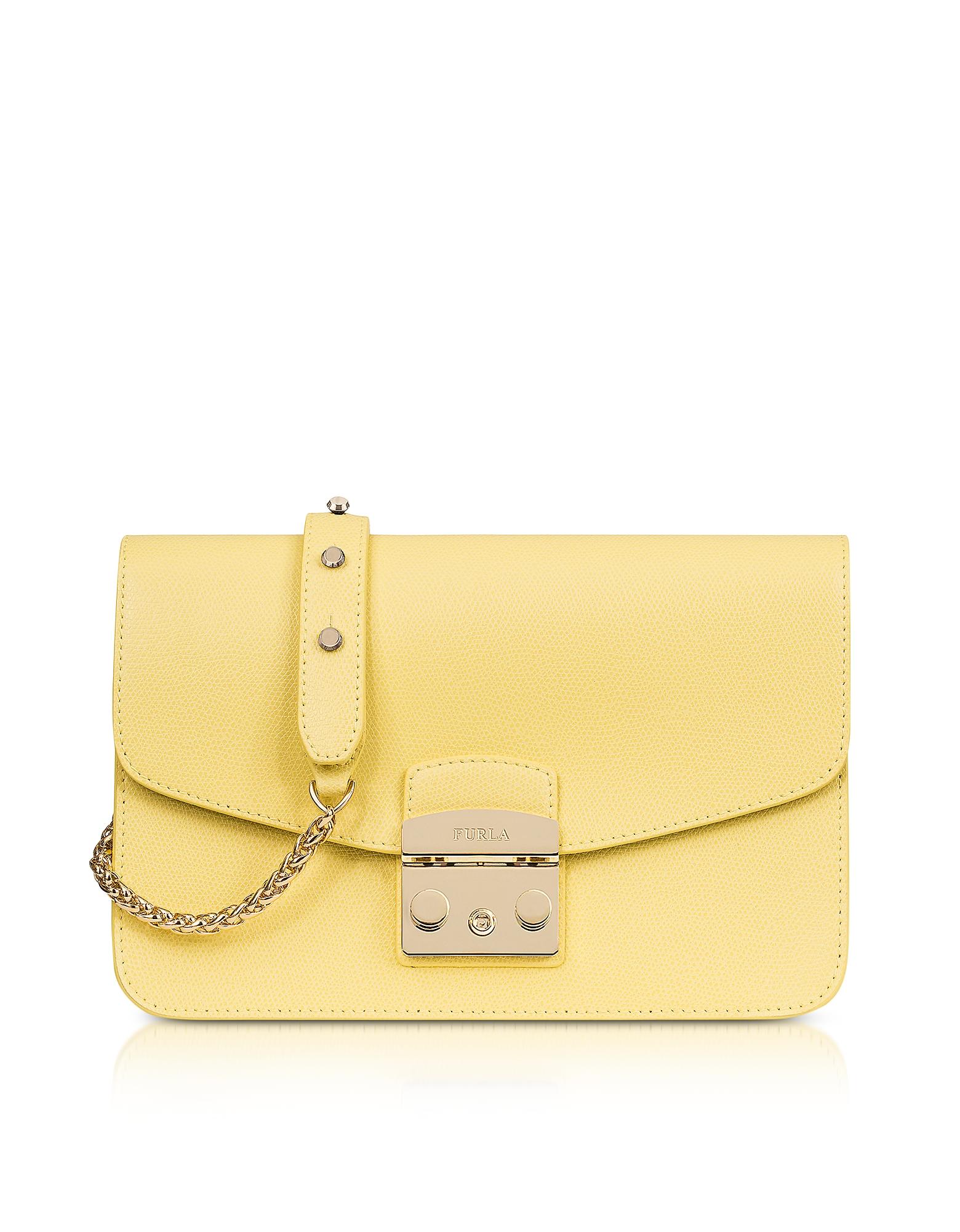 Furla Handbags, Cedar Leather Metropolis Small Shoulder Bag