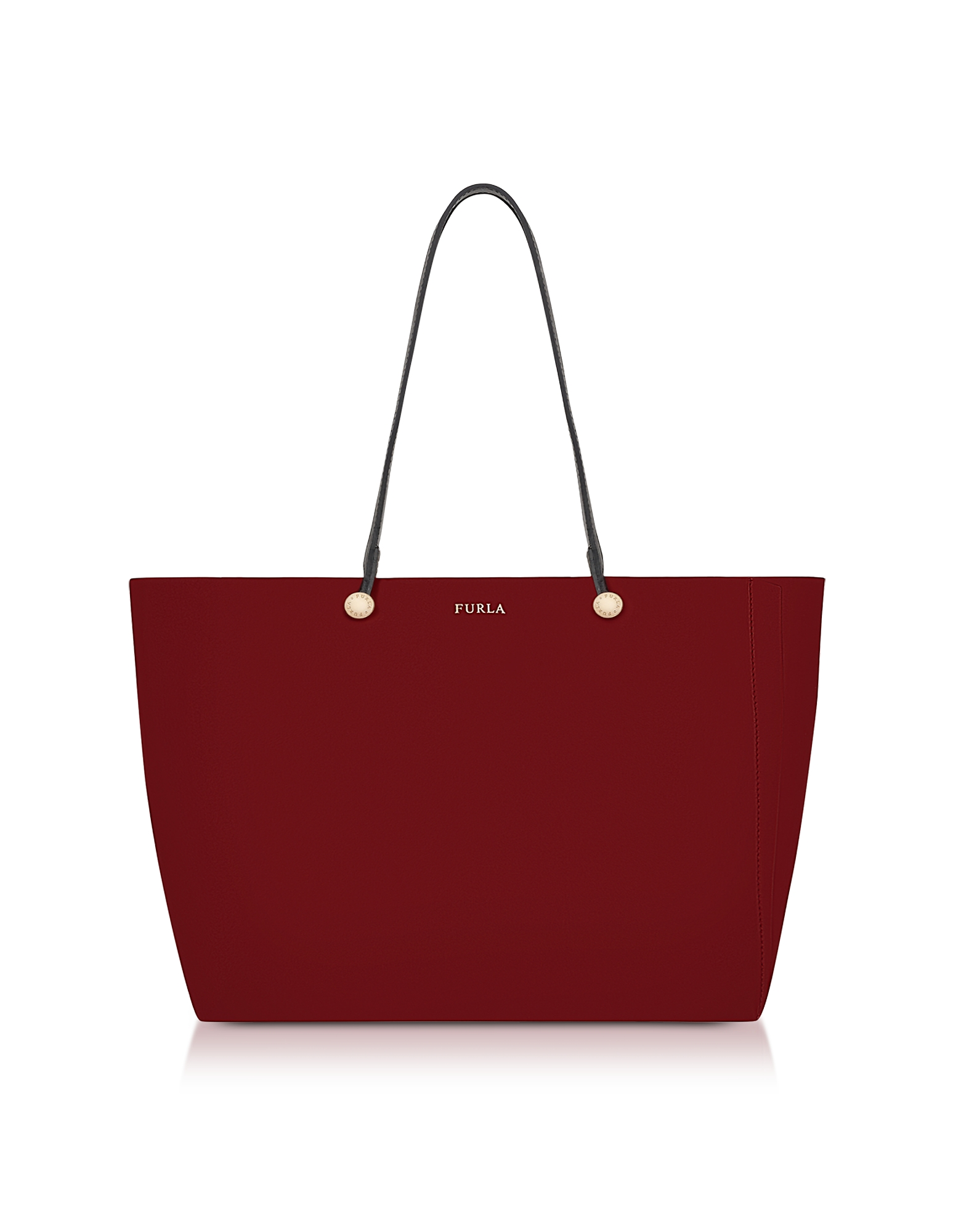 Furla Handbags, Cherry and Toni Vaniglia Leather Eden Medium Tote Bag