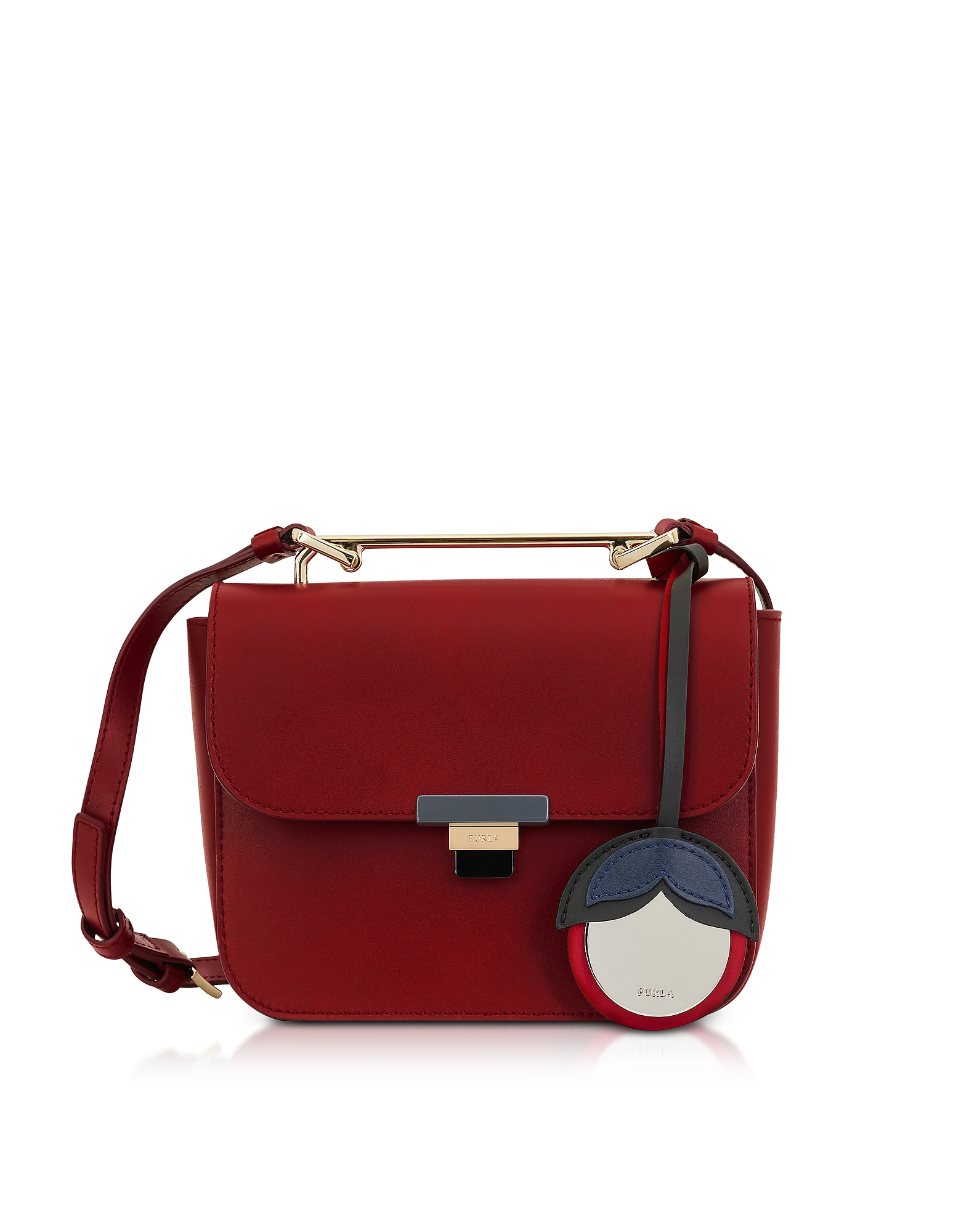 Furla Handbags, Cherry Leather Elisir Mini Crossbody Bag