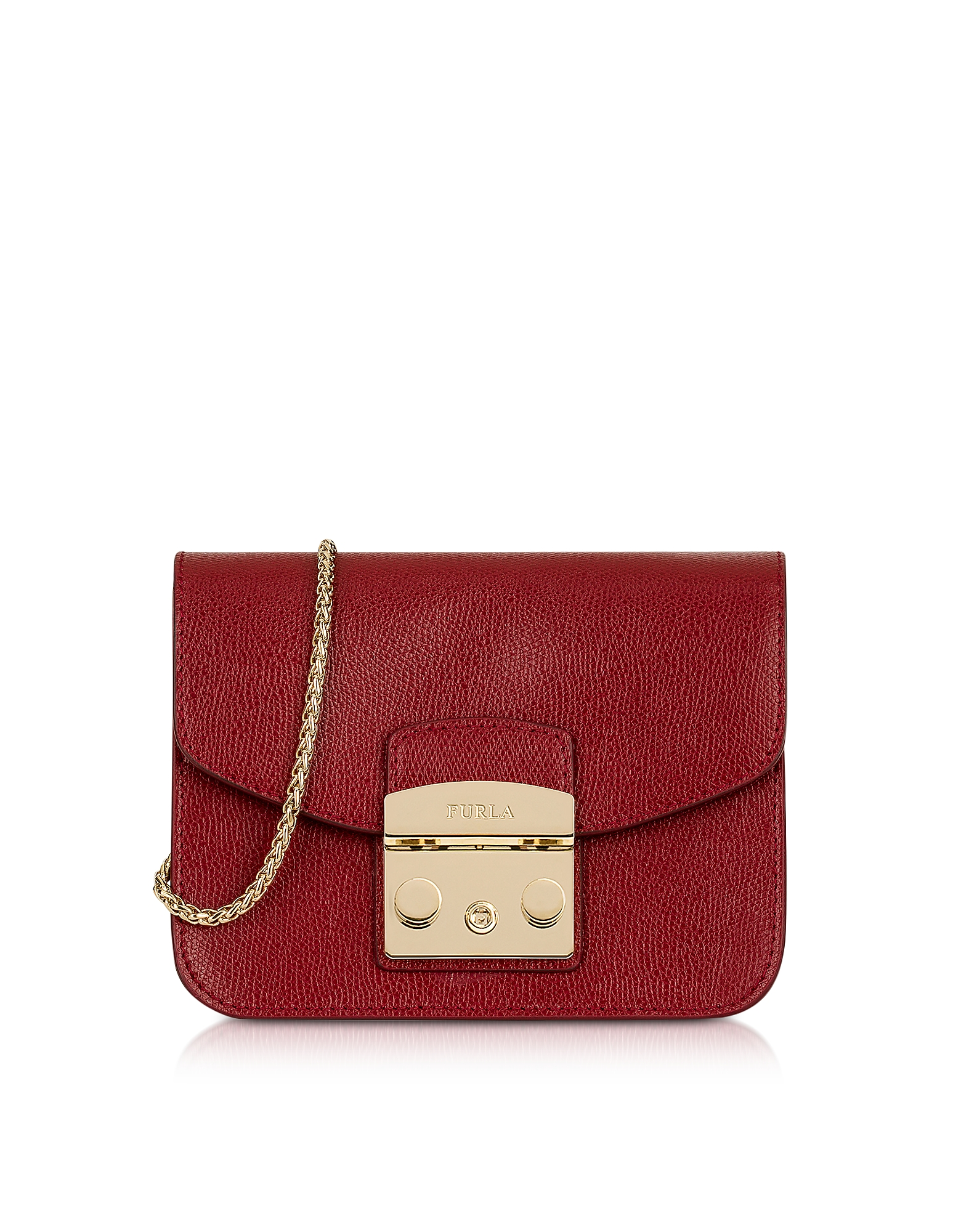 Furla Handbags, Cherry Leather Metropolis Mini Crossbody Bag