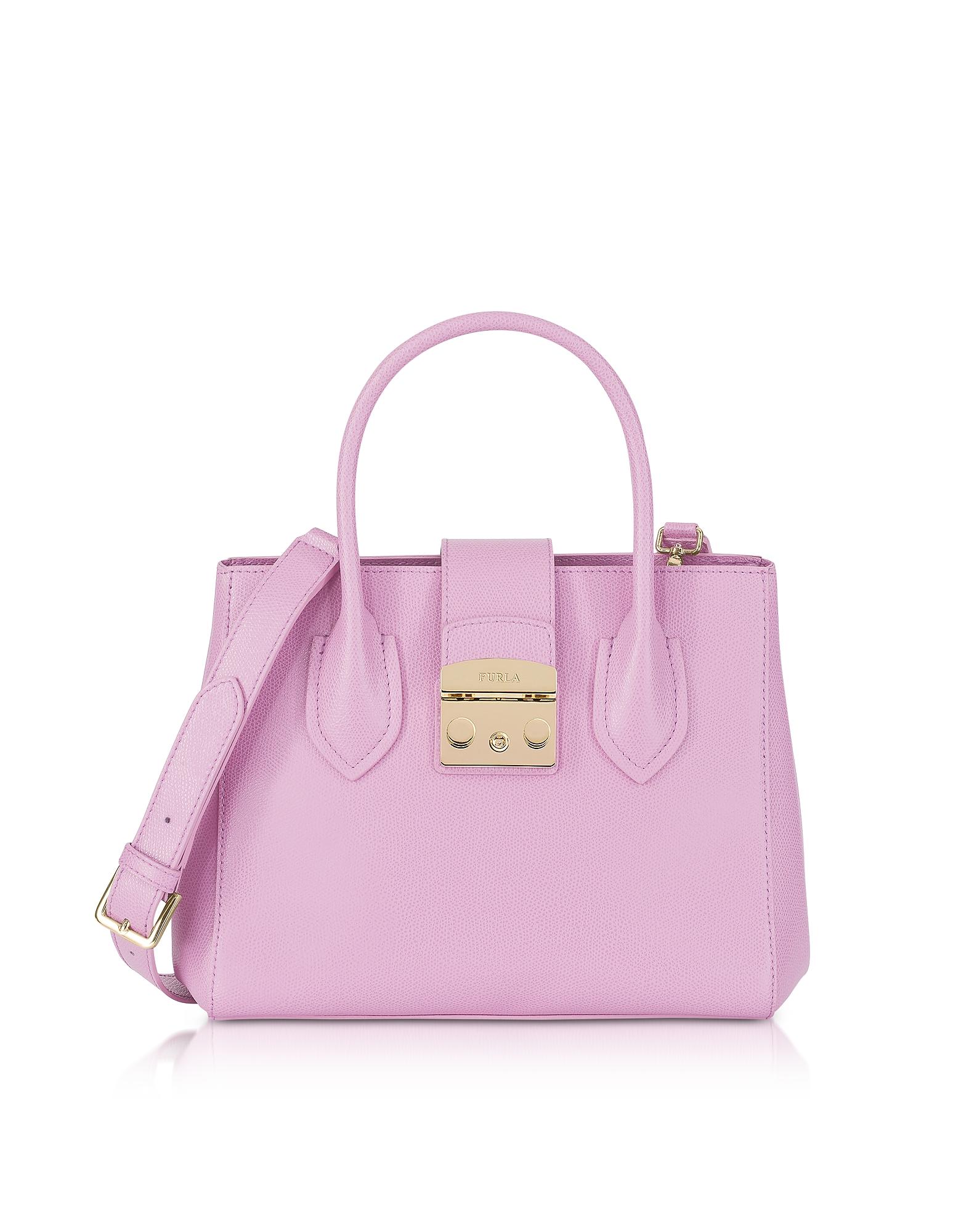 Furla Handbags, Glicine Leather Metropolis Small Tote Bag