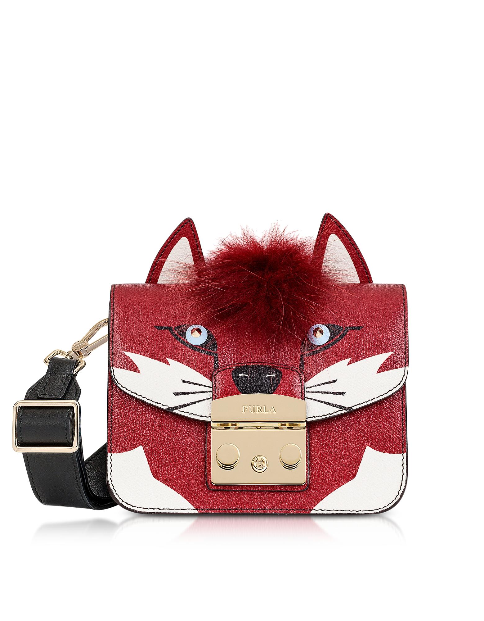 Furla Handbags, Metropolis Jungle Fox Mini Crossbody Bag