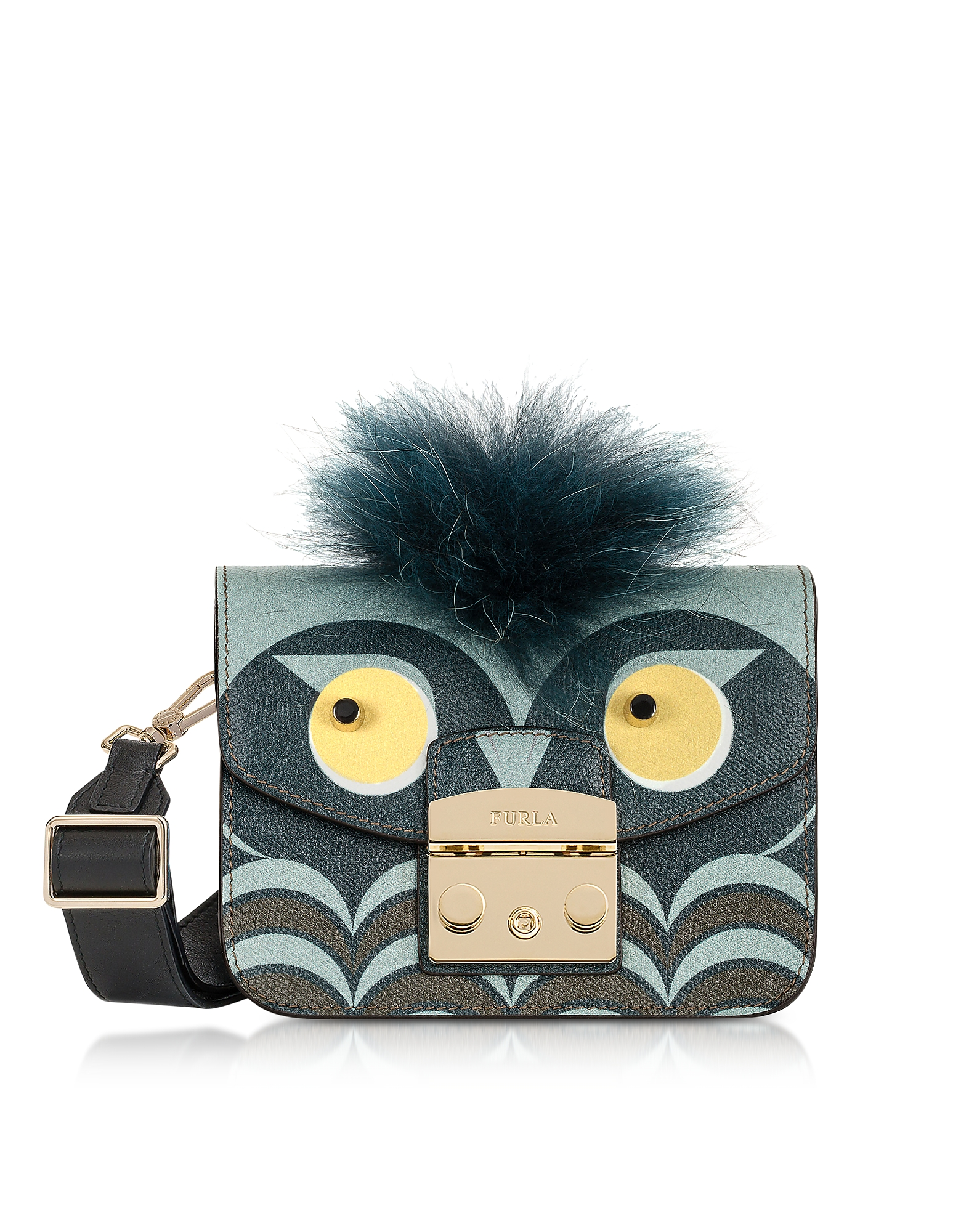 Furla Handbags, Metropolis Jungle Owl Mini Crossbody Bag