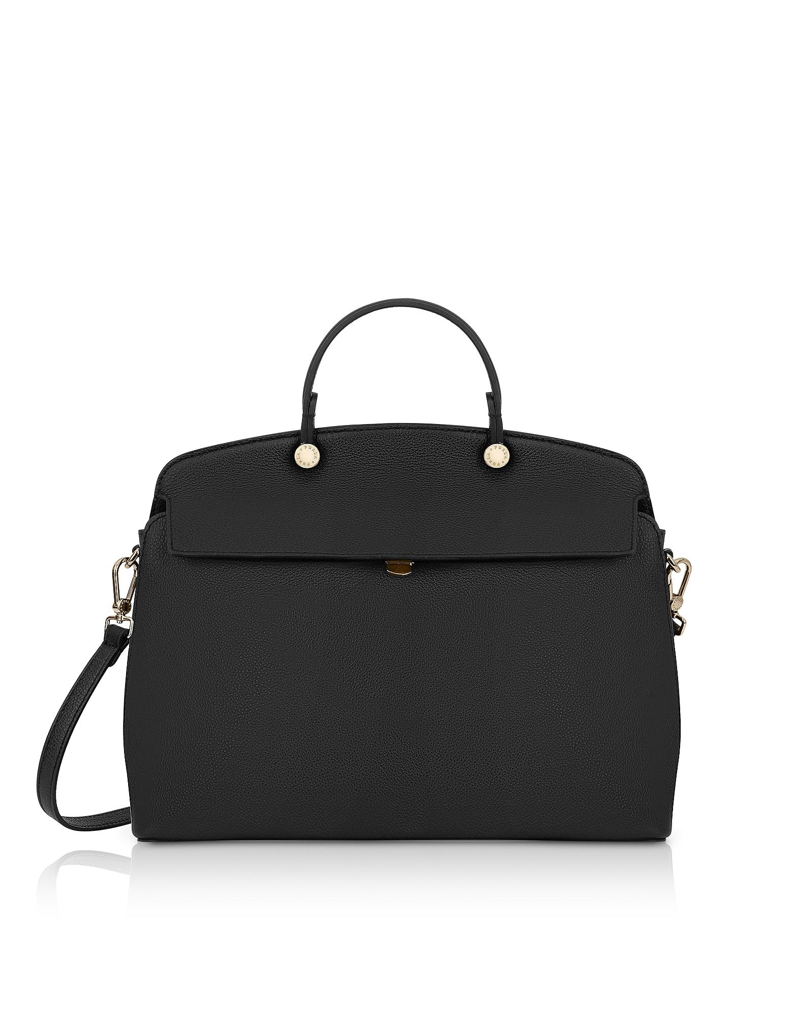 Onyx Cuir Mon Piper Moyen Top Handle Satchel Bag