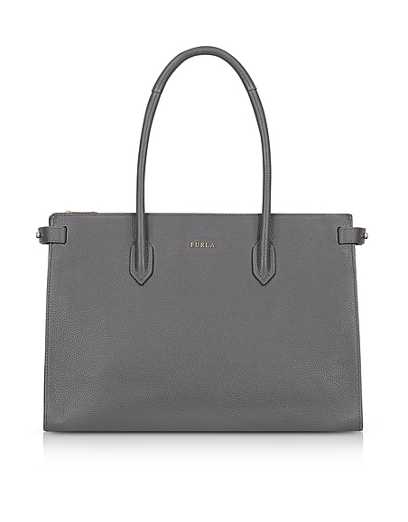 Furla Mercury Leather Pin Medium E W Tote Bag