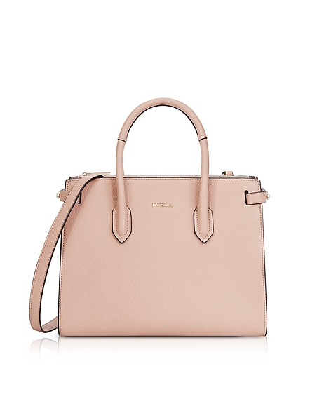 Furla Moonstone Leather Pin Small E W Tote Bag