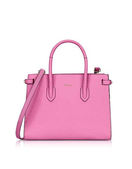 Furla Orchid Leather Pin Small E W Tote Bag