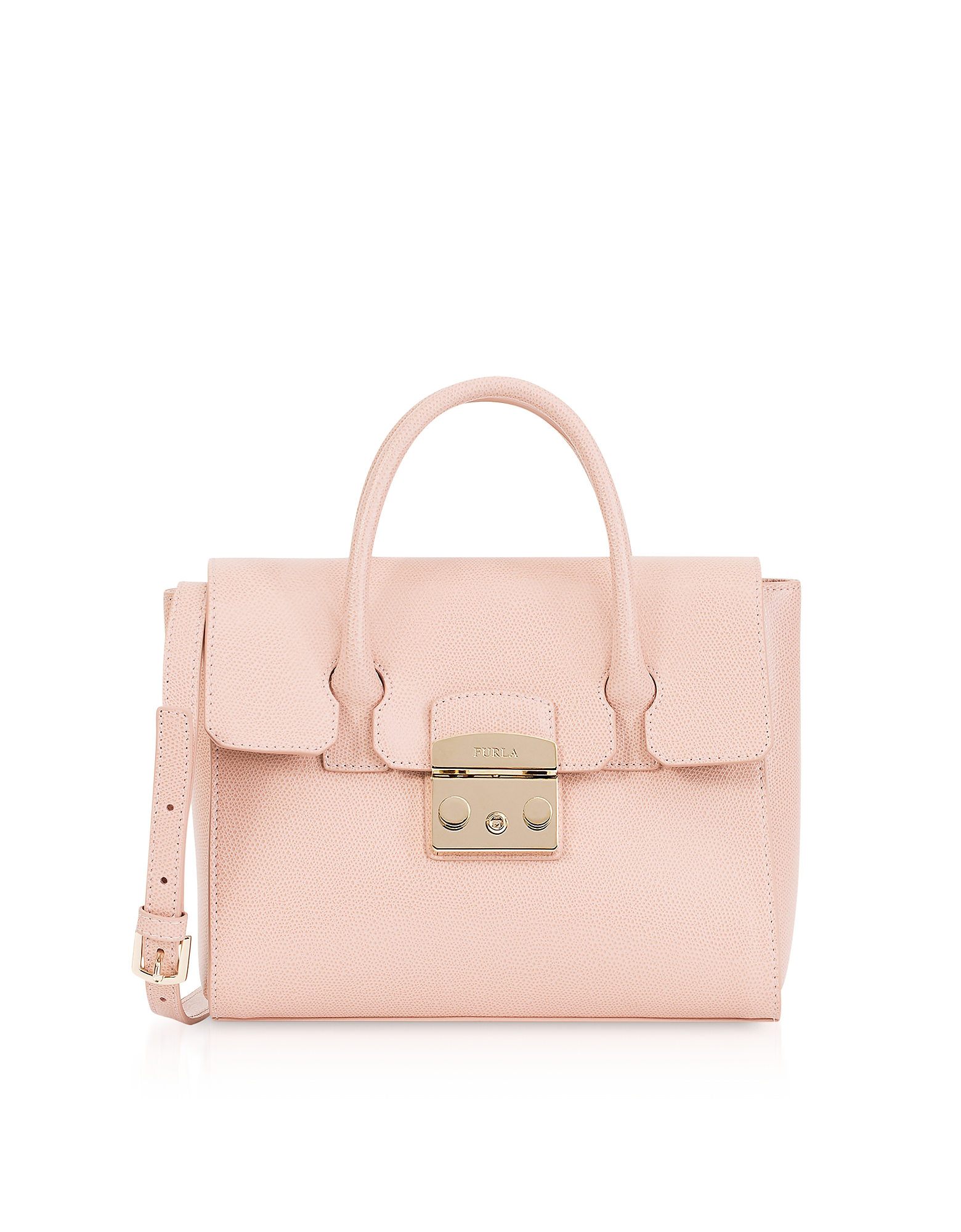 Furla Handbags, Moonstone Leather Metropolis S Satchel Bag