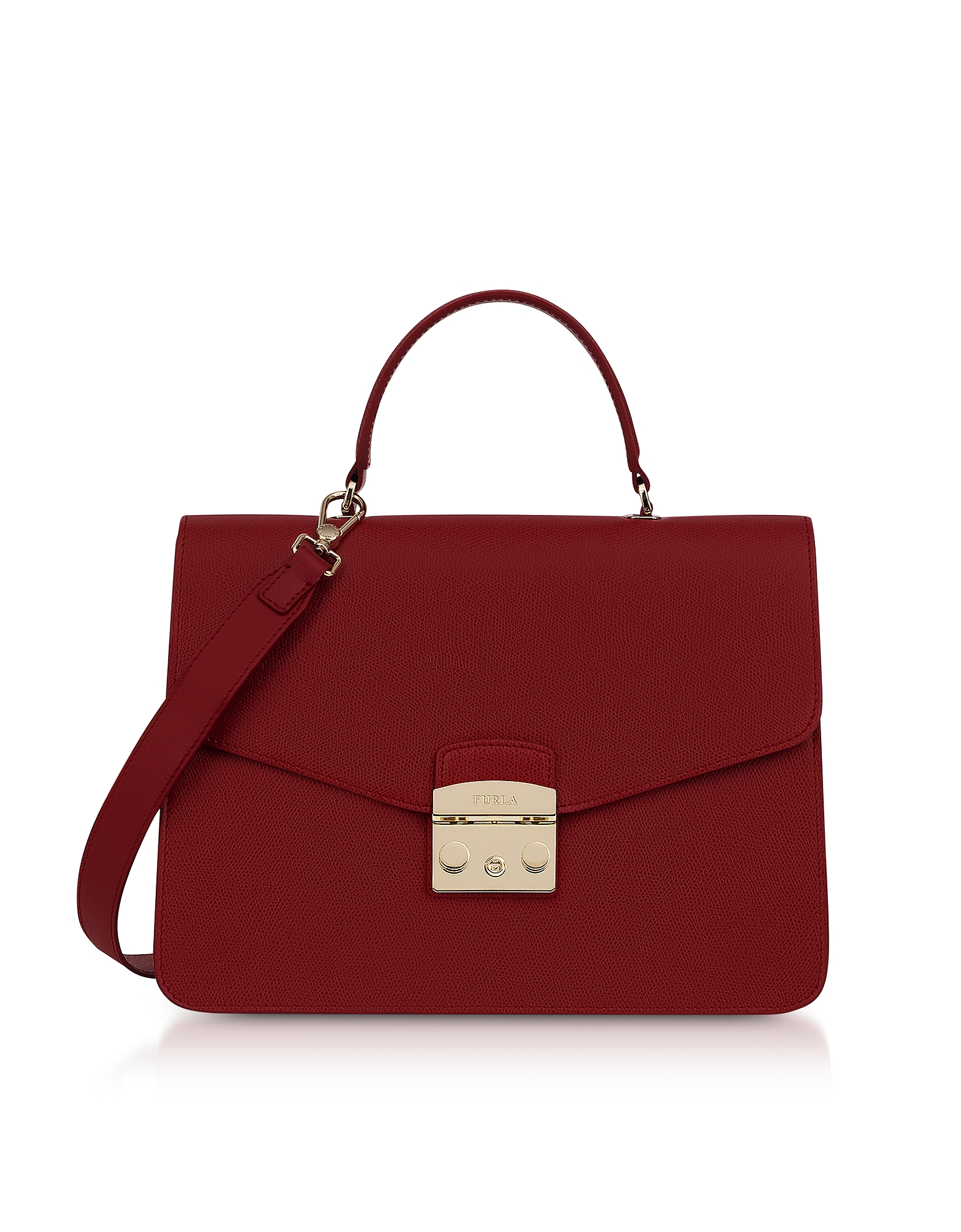 Furla Handbags, Moonstone Leather Metropolis M Satchel Bag