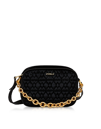 Quilted Velvet Cometa Mini Crossbody Bag