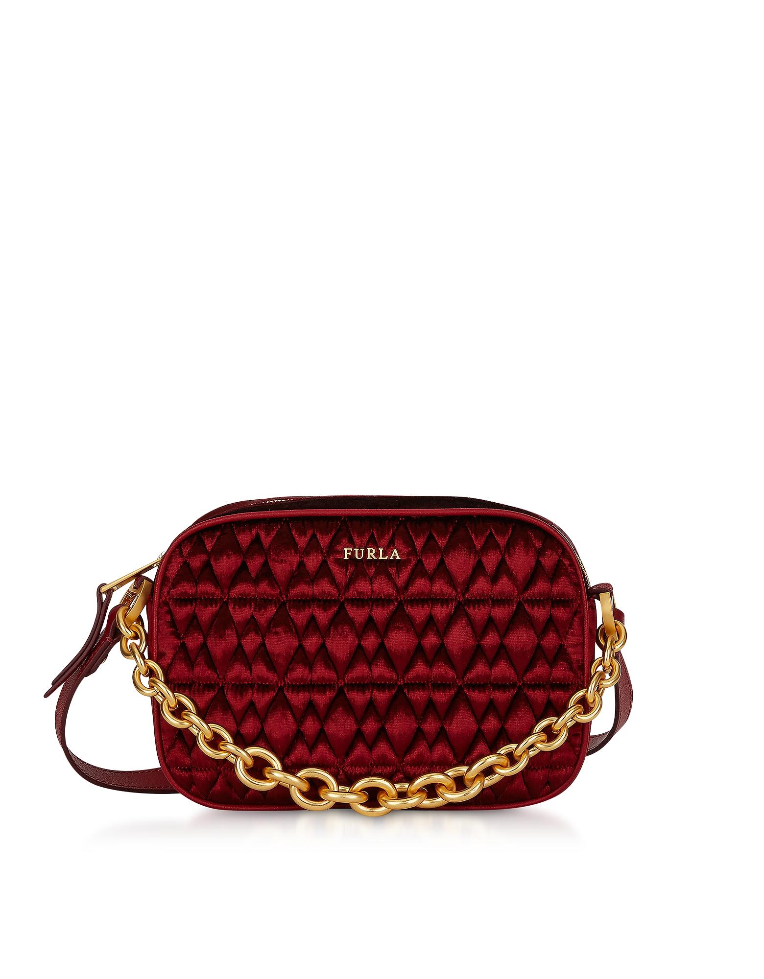 Furla Handbags, Quilted Velvet Cometa Mini Crossbody Bag