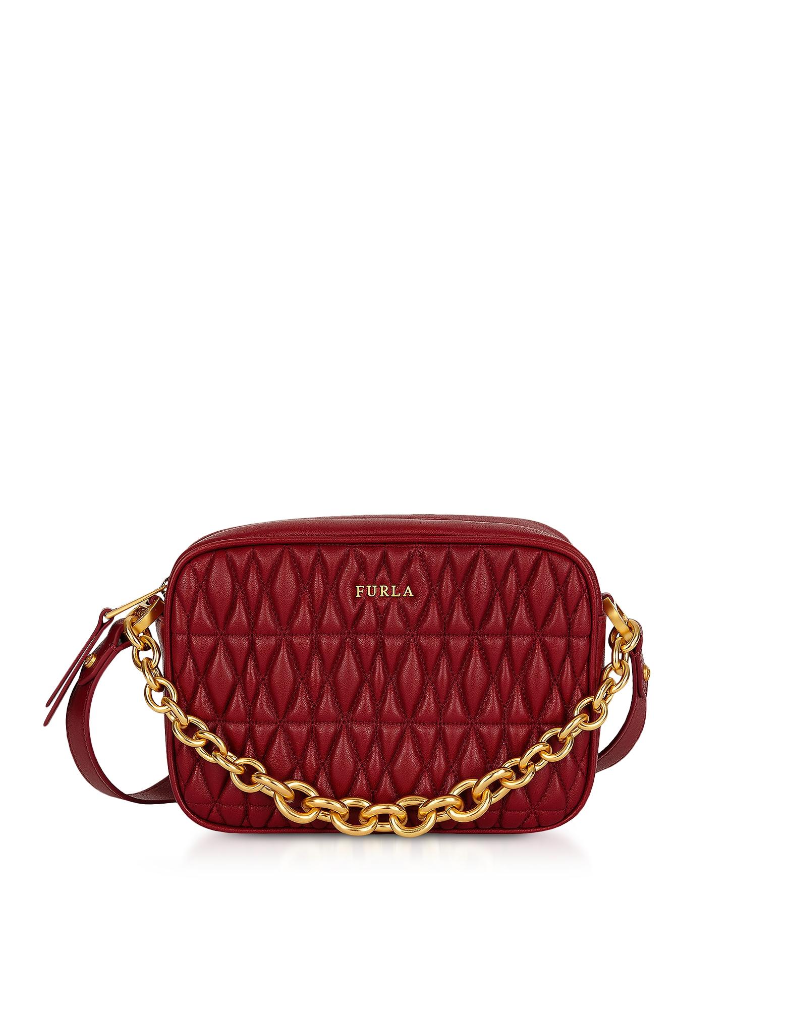 Furla Handbags, Quilted Leather Cometa Mini Crossbody Bag