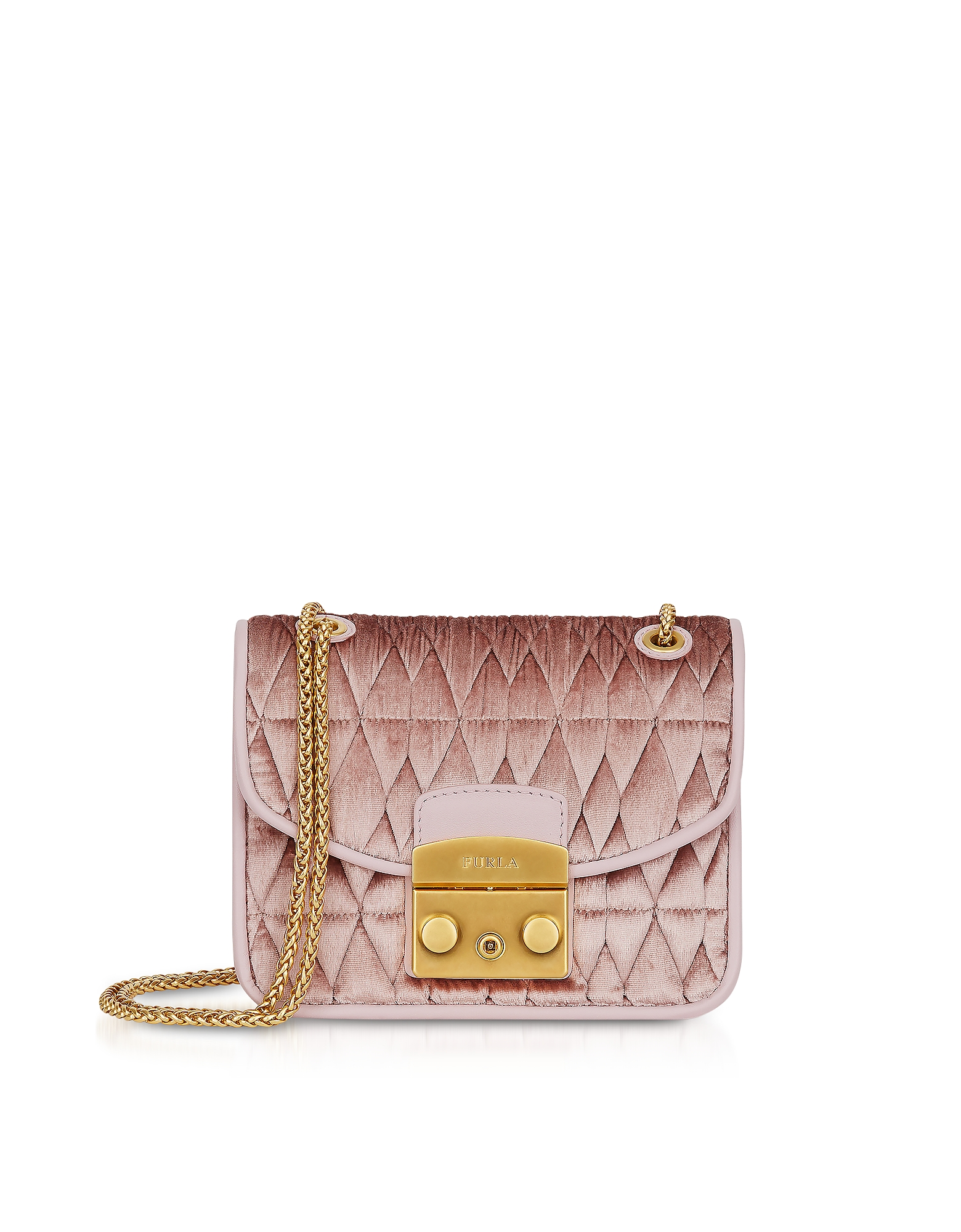Furla Handbags, Quilted Velvet Metropolis Cometa Mini Crossbody Bag