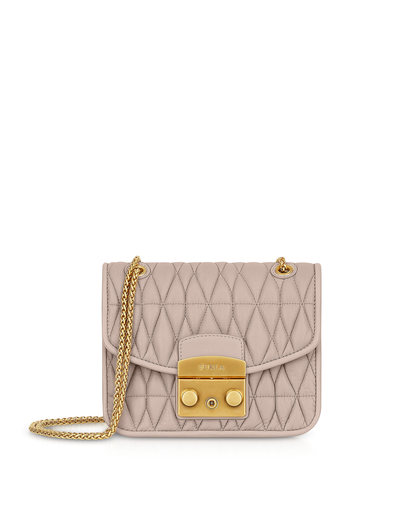 Furla Handbags, Quilted Nappa Metropolis Cometa Mini Crossbody Bag w/Chain Strap