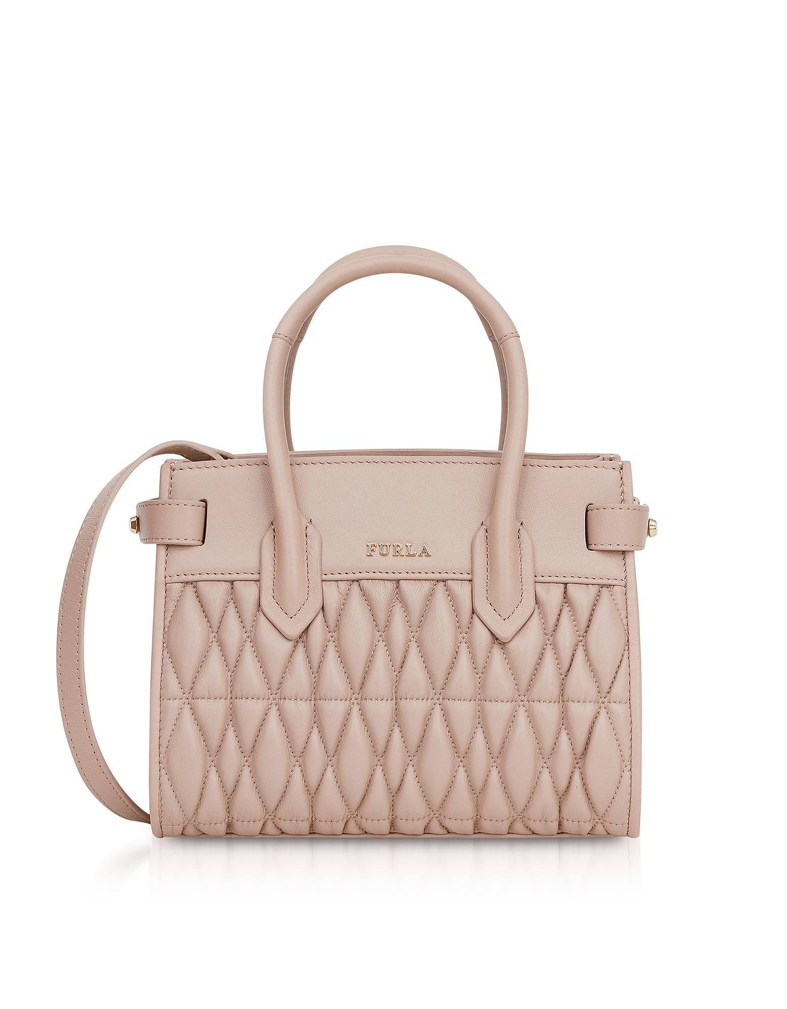 Furla Handbags, Quilted Nappa Leather Pin Cometa Mini Crossbody