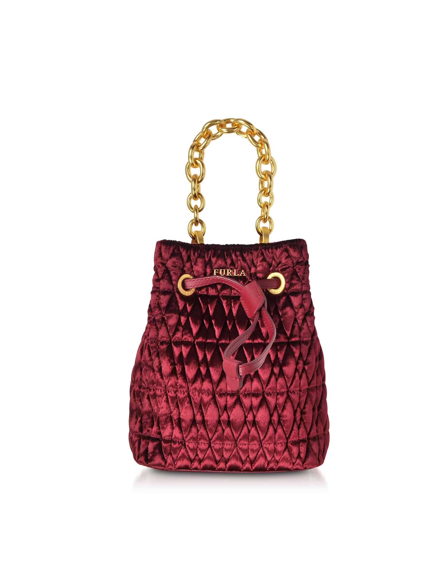 Furla Handbags, Quilted Velvet Stacy Cometa Mini Drawstring Bucket Bag