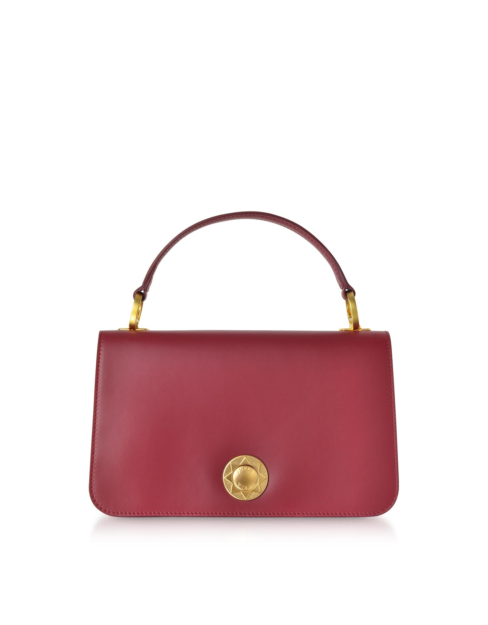 Luna Small Top Handle Bag in Cherry