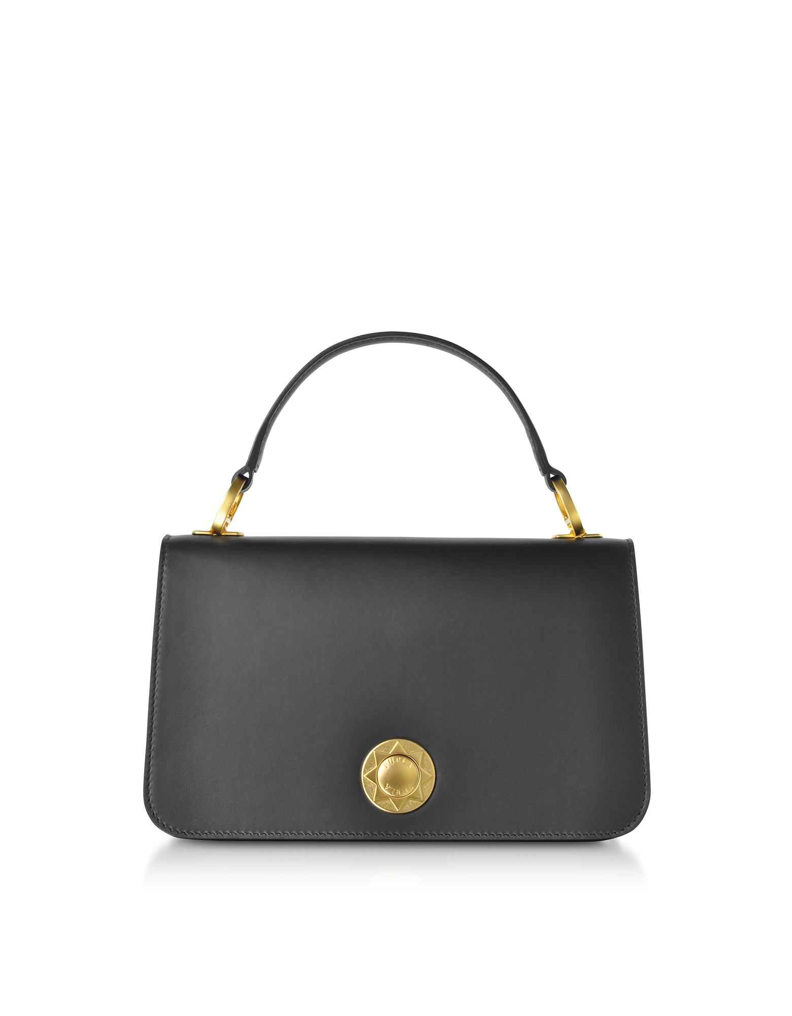 Luna Small Top Handle Bag in Black Onyx