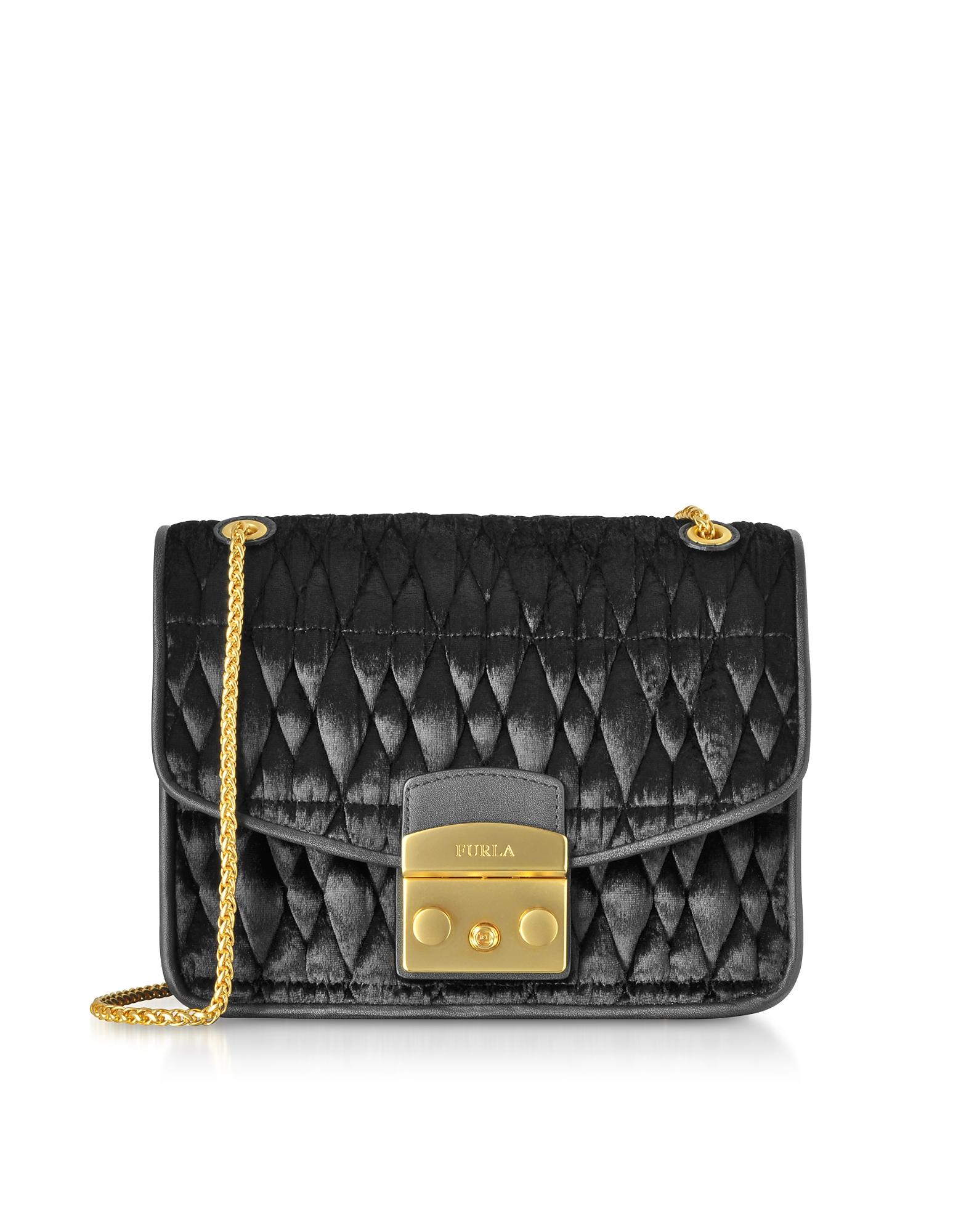 Quilted Velvet Cometa S Crossbody Bag