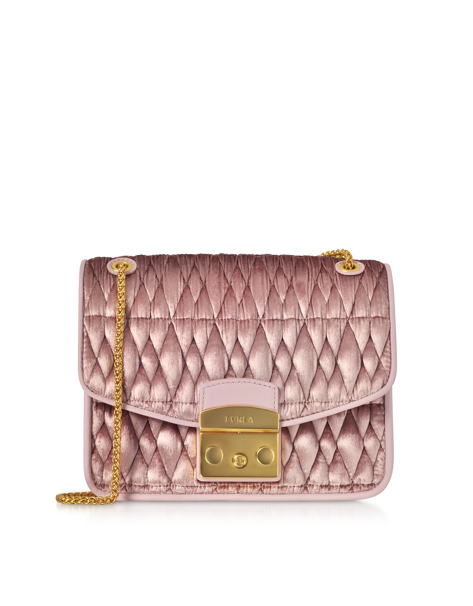 Furla Handbags, Quilted Velvet Cometa S Crossbody Bag