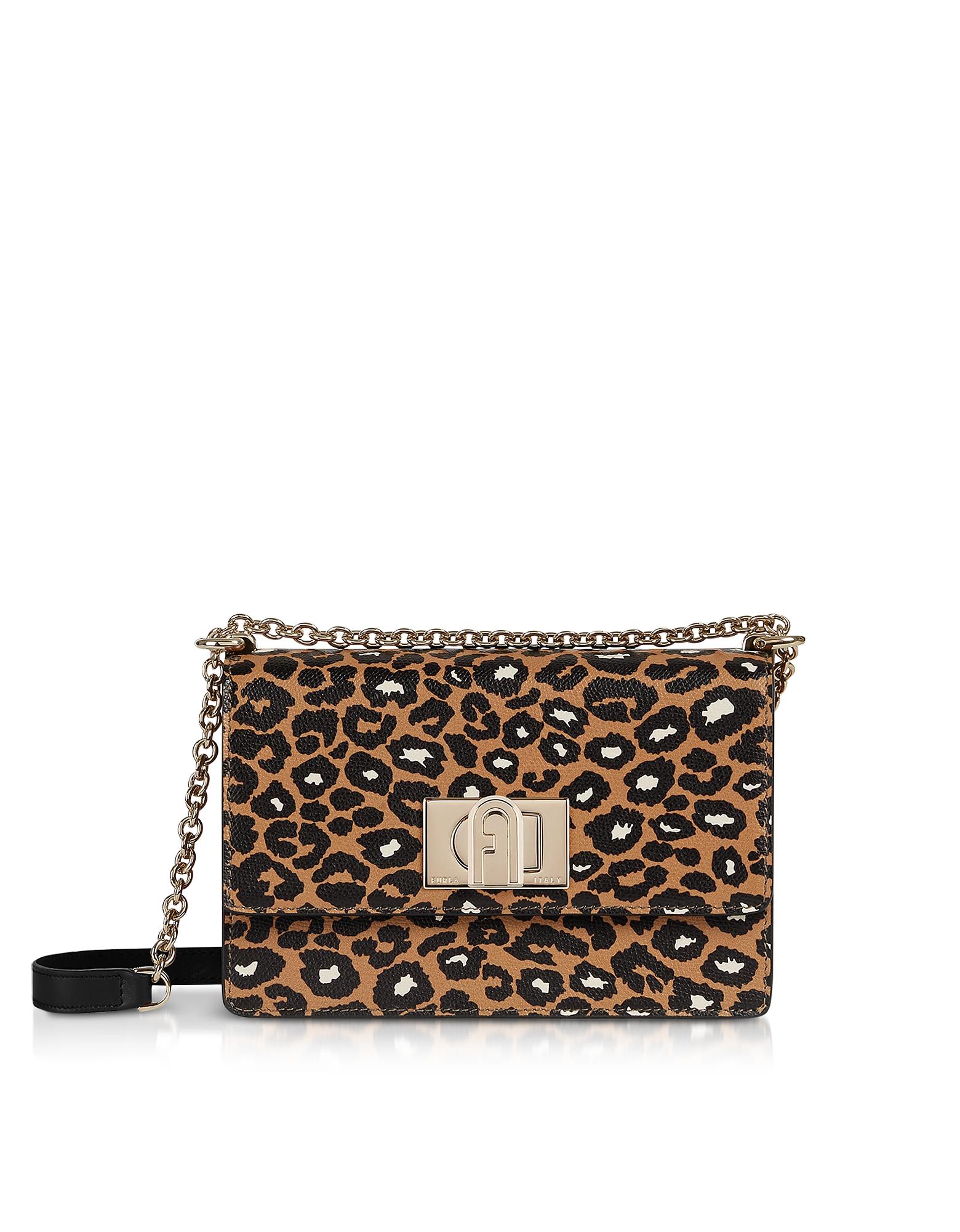Furla Designer Handbags, Animal Printed Leather 1927 Mini Crossbody Bag 20