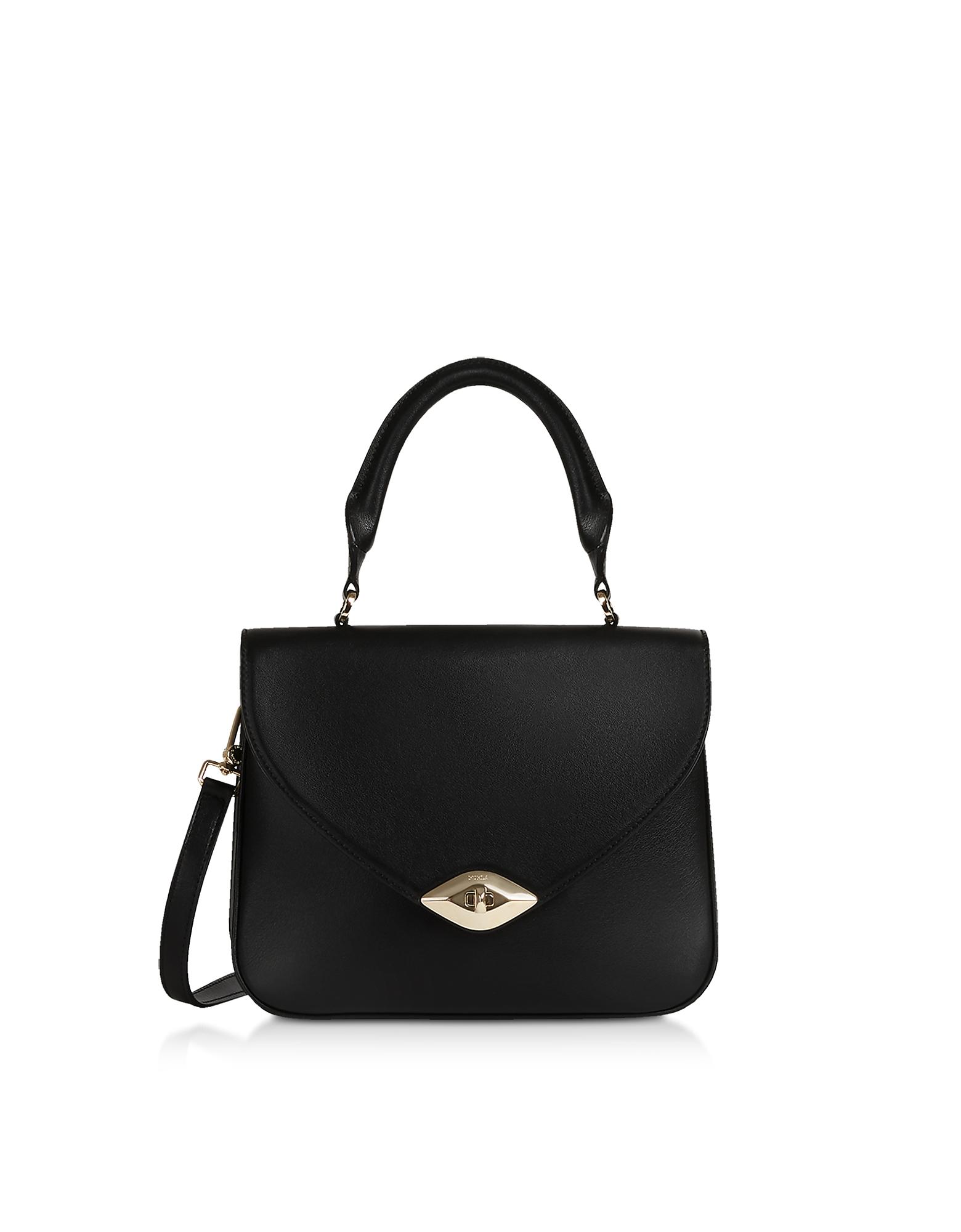 Eye S Top Handle bag, Black