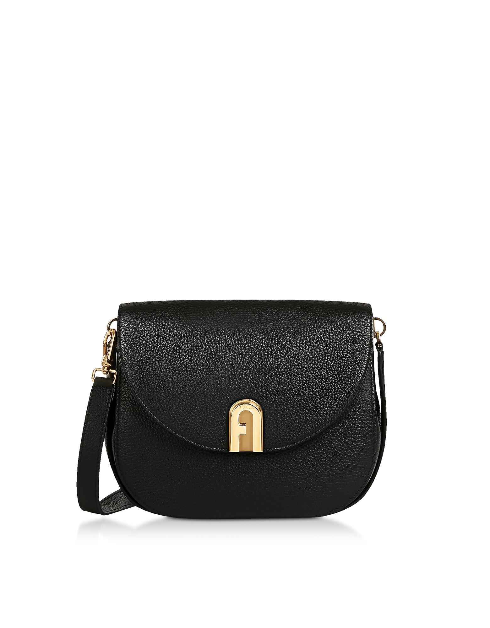 Genuine Leather Sleek S Crossbody Bag, Black