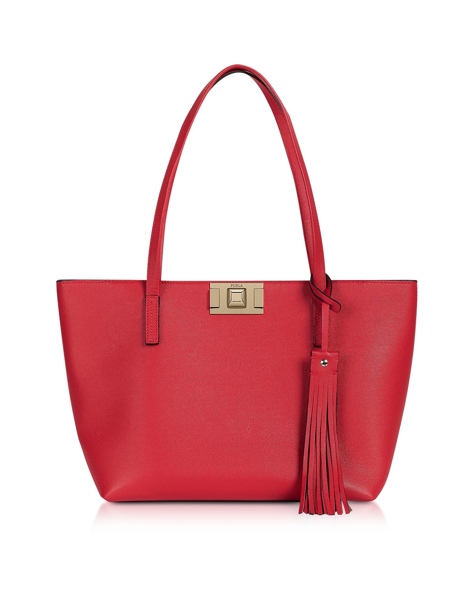 Furla Designer Handbags, Genuine Leather Mimì M Tote