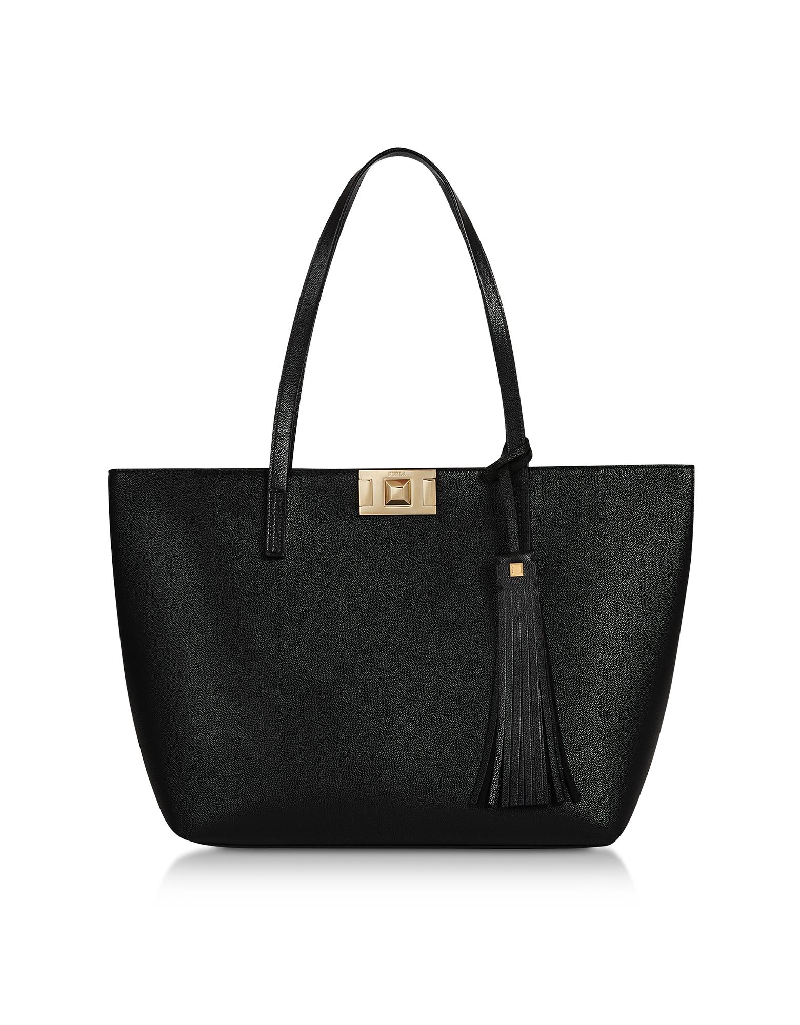 Furla Designer Handbags, Genuine Leather Mimì L Tote