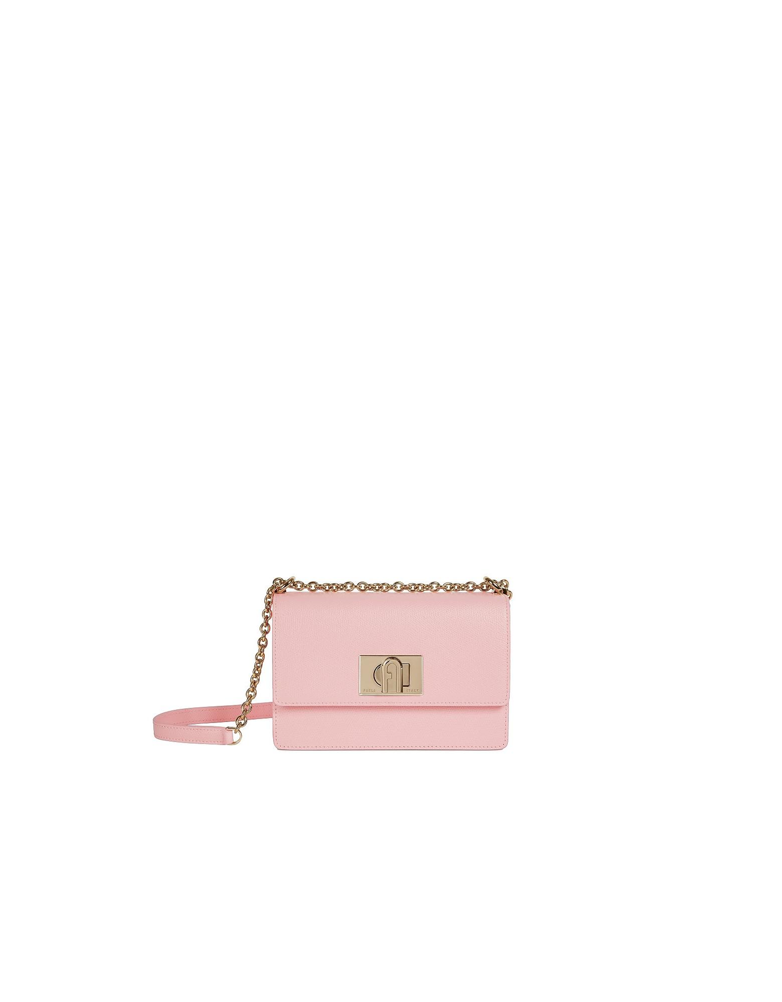 Furla Designer Handbags, Pink 1927 Mini Crossbody Bag 20