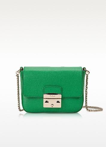 Metropolis Saffiano Leather Mini Crossbody Bag w/Chain - Furla