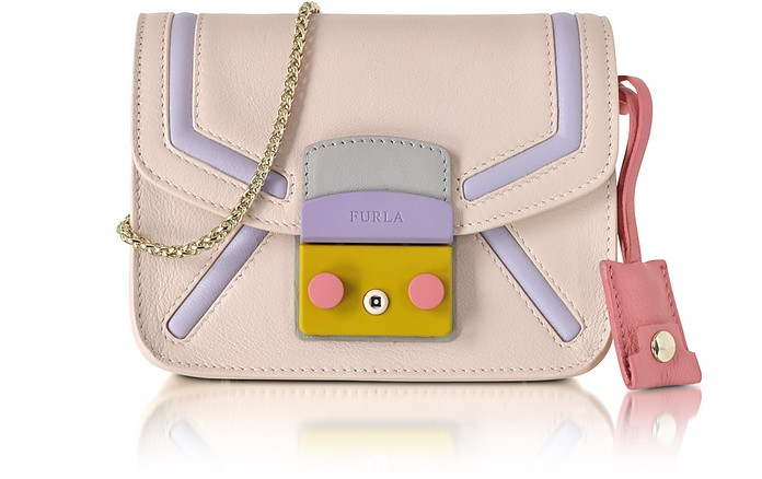 Metropolis Magnolia Leather Mini Crossbody Bag - Furla