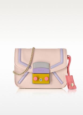 Metropolis Magnolia Leather Mini Crossbody Bag - Furla