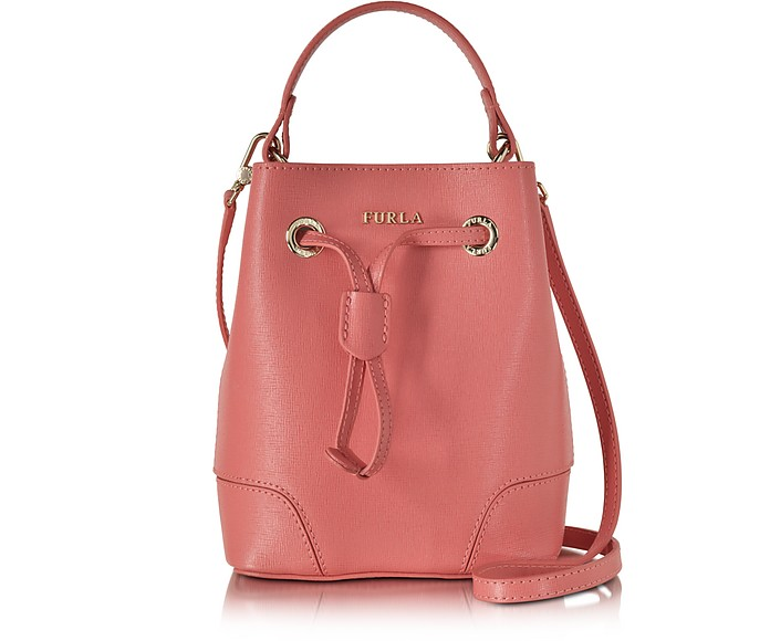 Coral Stacy Mini Drawstring Crossbody Bag - Furla