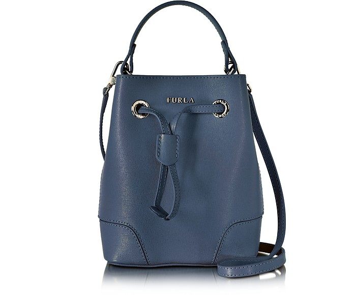 Navy Stacy Mini Drawstring Crossbody Bag - Furla