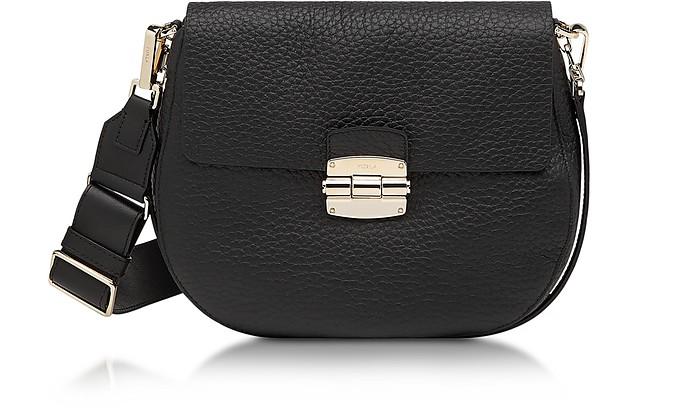 Club S Onyx Pebble Leather Crossbody Bag - Furla
