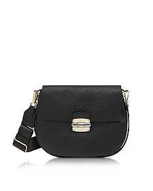 Club S Onyx Pebble Leather Crossbody Bag - Furla