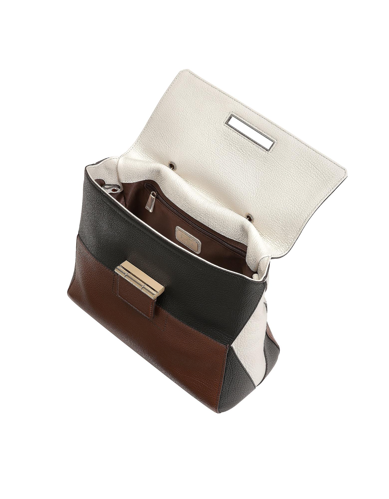 Glace, Petalo & Onyx Artesia Medium Top Handle Bag от Forzieri.com INT