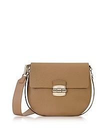 Club S Cappuccino Pebble Leather Crossbody Bag - Furla