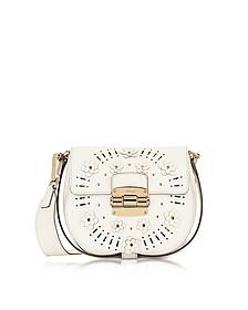 Petalo Leather Club Mini Crossbody Bag w/Daisy  - Furla