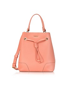 Peach Leather Stacy Small Bucket Bag - Furla