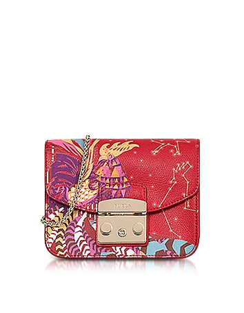 Furla - Toni Ruby Hongbao Printed Leather Metropolis Mini Crossbody Bag