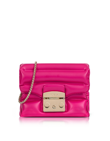Furla - Pinky Rubber Metropolis Oxygen Mini Crossbody Bag
