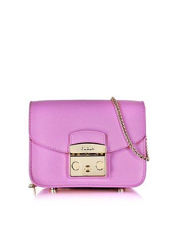 Furla - Lilac Leather Metropolis Mini Crossbody Bag