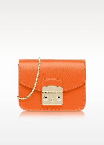 Mango Leather Metropolis Mini Crossbody Bag - Furla