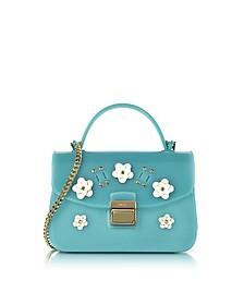 Candy Lilla Turquoise  Jelly Rubber Mini Bag - Furla