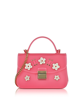 Furla - Candy Lilla Rose Jelly Rubber Mini Bag