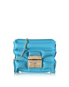Turquoise Rubber Metropolis Oxygen Mini Crossbody Bag - Furla