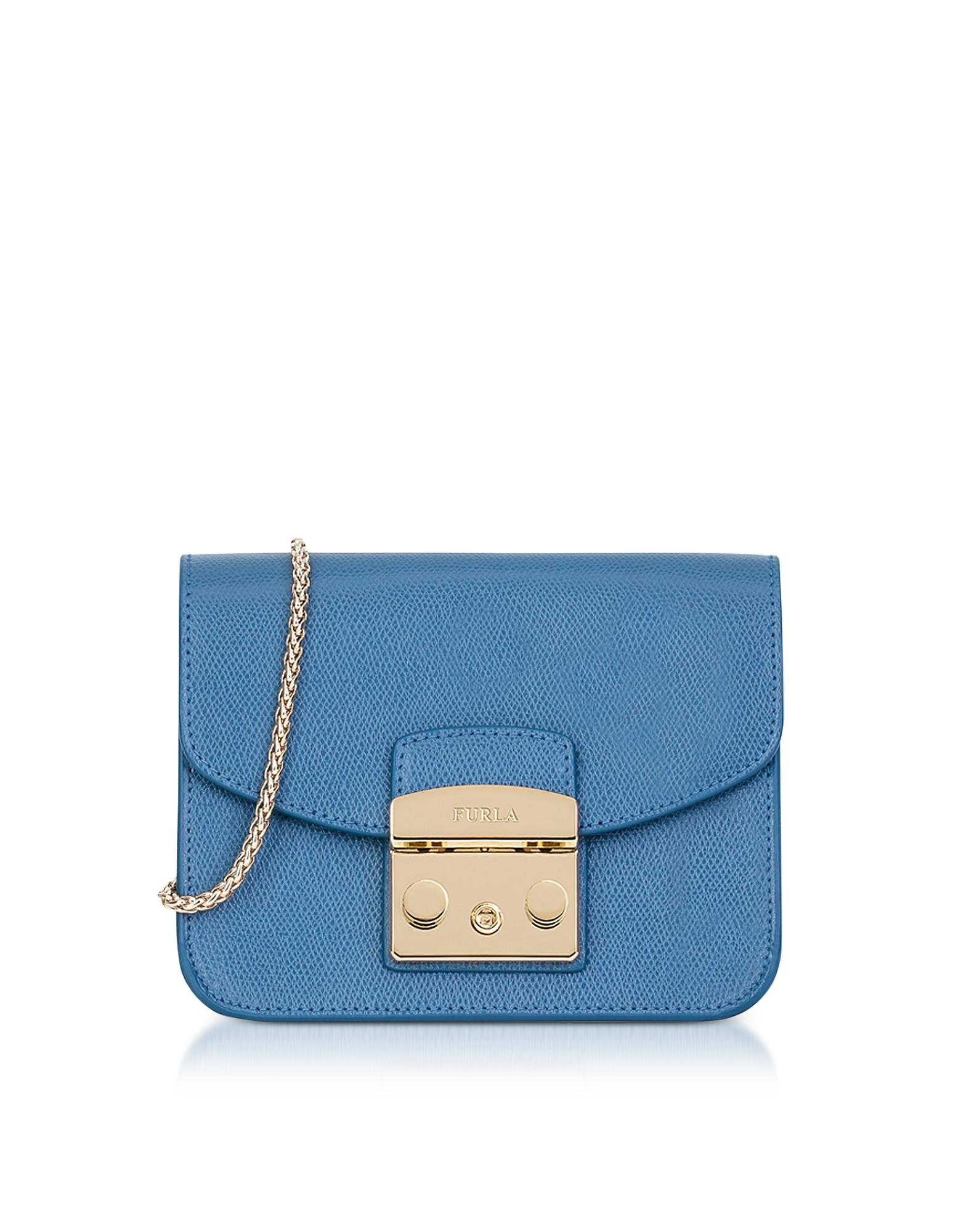 Furla Handbags, Celeste Leather Metropolis Mini Crossbody Bag