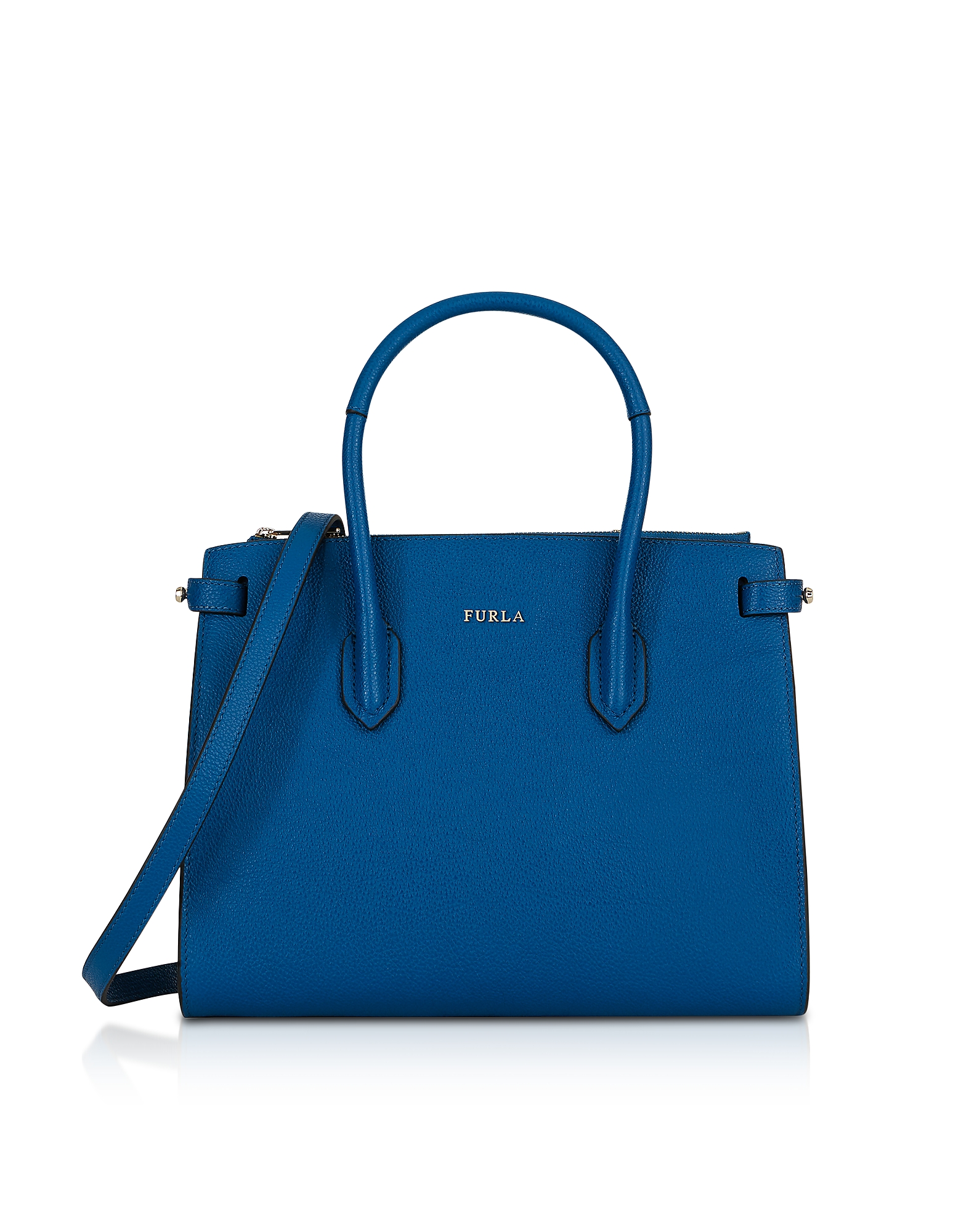 Furla Handbags, Leather E/W Pin Small Tote Bag